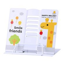 Book Stand Book Holder Adjustable Foldable Book Stand Cute [K]