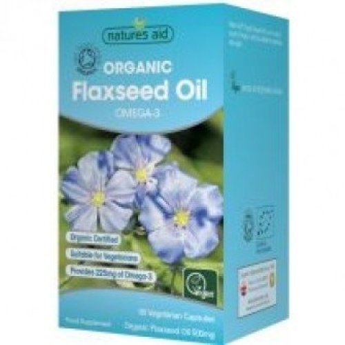 Natures Aid - Flaxseed Oil 500mg 90VCaps