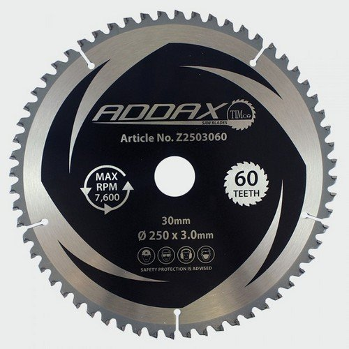 Addax Z2503060 TCT Mitre Saw Blade 250 x 30 x 60T