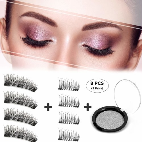 73cb76ce2e2 Dkina Magnetic Eyelashes, Reusable Magnetic False Eyelashes Free of Glue,  Magnetic Lashes with Full Size & Half Size, Reusable Natural Magnetic... on  OnBuy