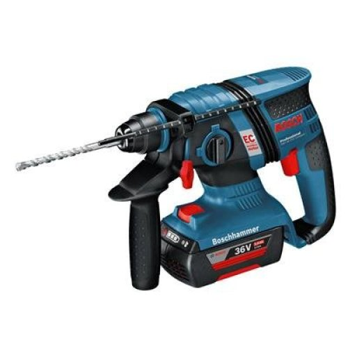 Bosch Professional GBH 36 V-EC Compact Cordless Rotary Hammer Drill with 36 V 2.0 Ah Lithium-Ion Battery - L-Boxx