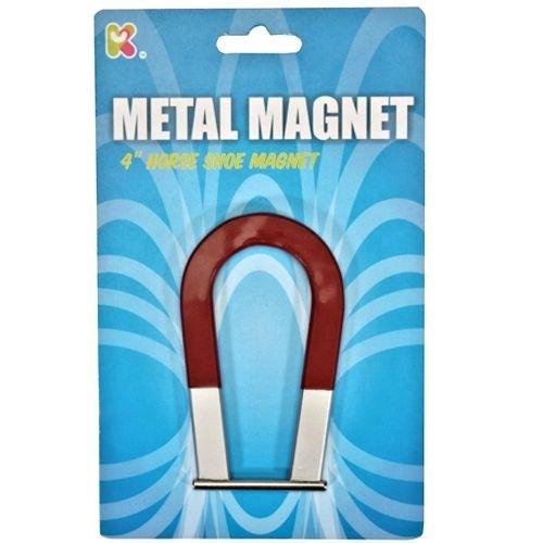 """Metal Horse Shoe Magnet 4"""" Pocket Money Toy"""