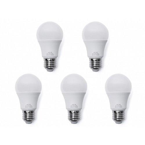 LED Light Bulb - Low Energy - Warm White - 5 Pieces - 5W, E27, 5.5 x 10.3cm