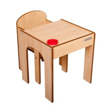 FunStation Table and Chair Set (Natural)