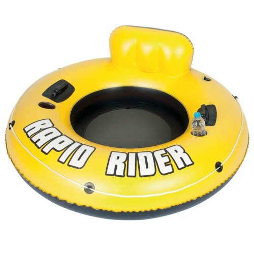 Bestway Rapid Rider One Person Inflatable Water Floating Tube 43116