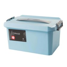 Lovely Stylish Double Storage Box Medicine Box Family Emergency Kit,Blue