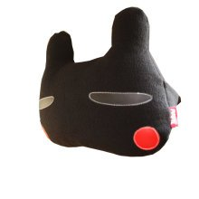 Creative Auto Supplies/Lovely Cartoon Car Seat Neck Pillow,(Black Rabbit)