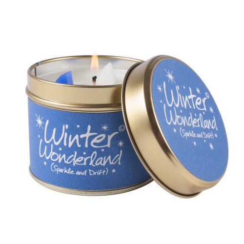 Lily Flame Candle in a Tin - Winter Wonderland