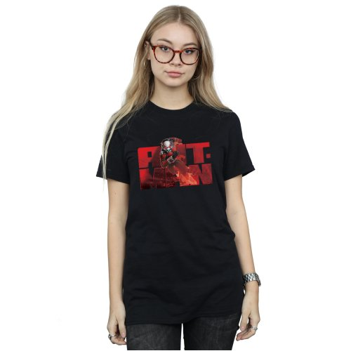Marvel Women's Ant-Man Running Boyfriend Fit T-Shirt