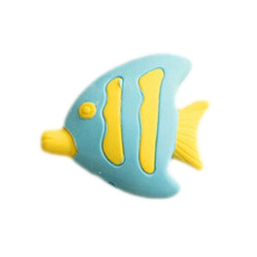 15Pcs Lovely Eraser Pencil Erasers Office/School Stationery, Blue Fish