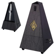 Wittner Maelzel 845B Traditional Pyramid Metronome Without Bell, Black