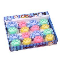 Luminous Jelly Erasers, Lovely Pupil Prize Award Gift, 72 Count Cat Claw Erasers
