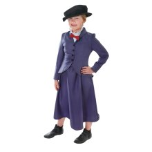 Medium Girls Victorian Nanny Costume -  nanny costume fancy dress girls poppins victorian mary outfit kids book week childs FANCY DRESS KIDS