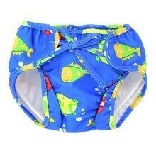 Baby Swim Trunks 0-3 Infants Cute Swimsuit Leakproof Swim Shorts, Blue Sea Fish
