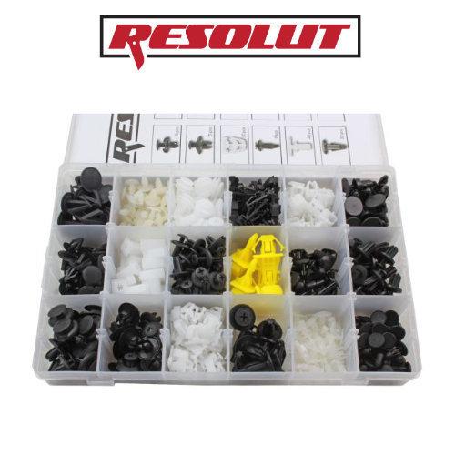 RESOLUT Honda Assorted Trim Clips 418 Pieces 9047