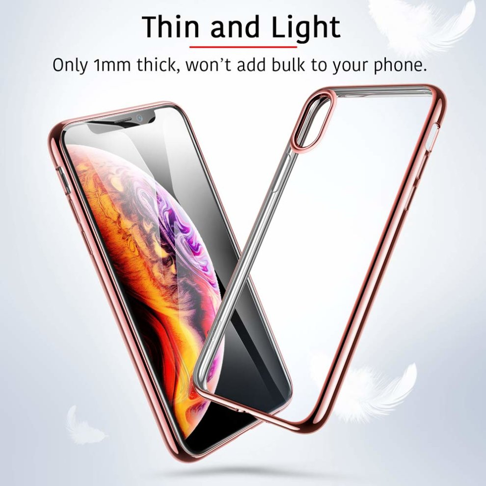 new style 13ca6 6b483 ESR iPhone XS/iPhone X Case, Slim Clear Soft TPU Gel Case Flexible Silicone  Protective Cover [Supports Wireless Charging] for 5.8 inch iPhone...