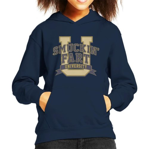 Smucking Fart University Kid's Hooded Sweatshirt