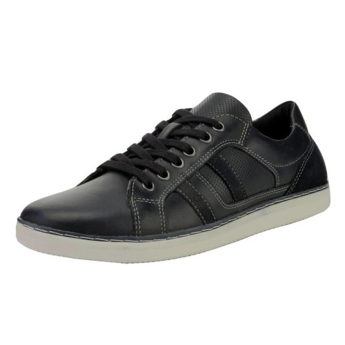 Red Tape Men's Cumber Leather Casual Shoes Navy