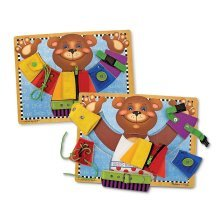 Melissa & Doug Basic Skills Board and Puzzle - Wooden Educational Toy