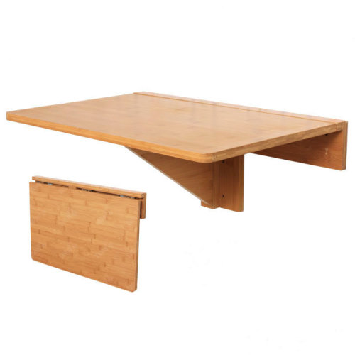 SoBuy® FWT031-N, Bamboo Folding Wall-mounted Drop-leaf Table Desk Kitchen Dining Table, 60x40cm