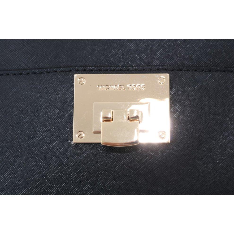 18c2cfc68cab ... Michael Kors Handbags Black TINA Leather Satchel Bag - 5. >
