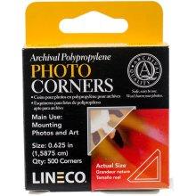 "Lineco Polypropylene Photo Mounting Corners 500/Pkg-Clear .625"""
