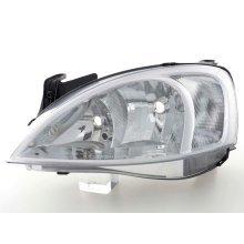 Spare parts headlight left Opel Corsa C Year 00-03