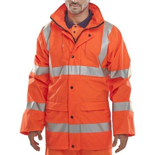 Click PUJ471ORXXL Hi Vis Orange Jacket With Concealed Hood EN471 XXL