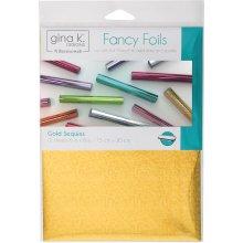 """Gina K Designs Fancy Foil 6""""X8"""" 12/Pkg-Gold Sequins"""