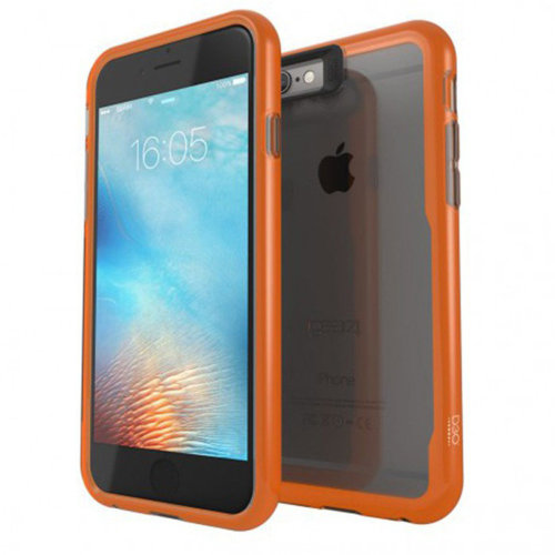 Gear4 D3O Jumpsuit Phone Cover Case iPhone 6 /6S Grey/Orange Anti-Shock
