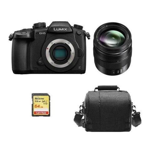 PANASONIC DMC-GH5 Black+12-35mm II ASPH O.I.S Black+64GB SD card+Bag