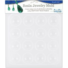 "Resin Jewelry Mold 6.5""X7""-Cabachons - 16 Cavity"