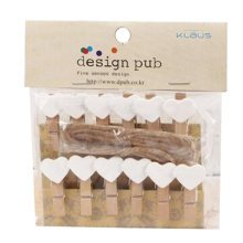Mini Natural Wooden Clothespins Photo Paper Peg Pin Craft Clips with 2m Jute Twine, K