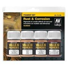 Val73194 - Av Vallejo Pigments Set - Rust & Corrosion