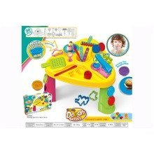 Kid Childrens Dough Play Activity Table with Accessories Learning Toys 30 pieces