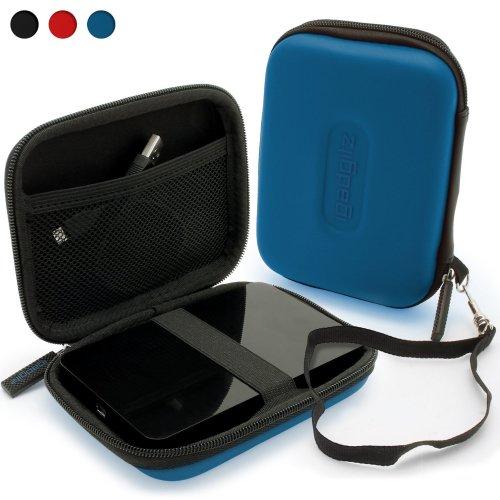iGadgitz Blue EVA Hard Travel Case Cover  Portable External Hard Drives