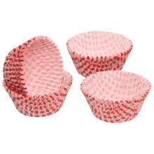 7cm Pack Of 60 Sweetly Does It Strawberry Patterned Paper Cake Cases