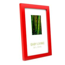 Decorative Wood 4-by-6-Inch Picture Photo Frame, Set Of 2, Red