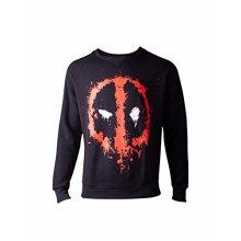 69de03b8 Deadpool Sweatshirt Dripping Face Men's Sweater Black^XL (New)