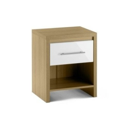Sadat Oak Bedside Table - 1 Drawer Assembled Option