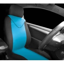 Black Blue 2 Piece Front Seat Cover Set - Sumex Unicorn Universal Single Fund95a -  sumex unicorn universal single front seat cover blue black