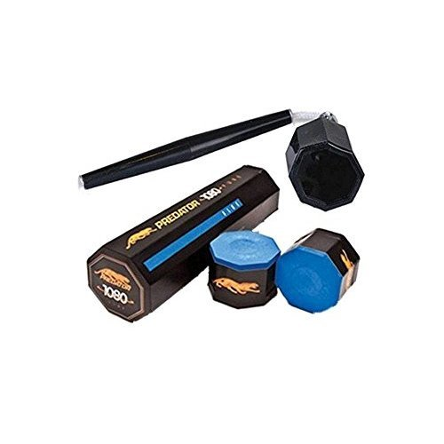 Predator Chalk 1080 Pure 5 Pieces Blue with Action Octagon Style Cue Chalker