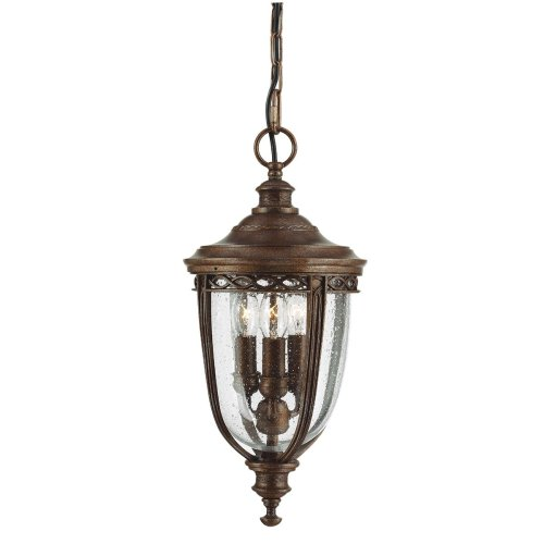 3 Light Medium Chain Lantern In British Bronze