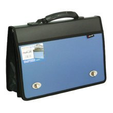 Large capacity Storage Laptop Bag Document Organizer Briefcase (38x26X3cm) BLUE