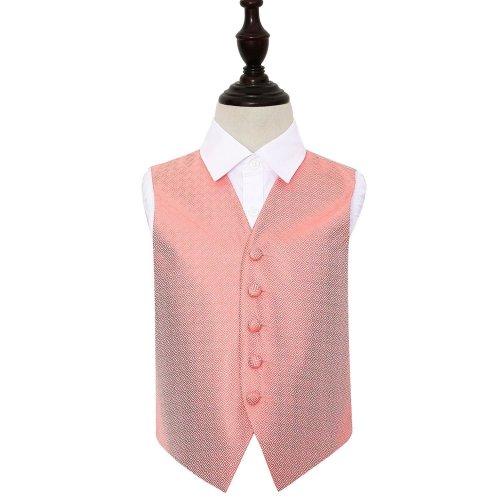 Coral Greek Key Wedding Waistcoat for Boys 26'