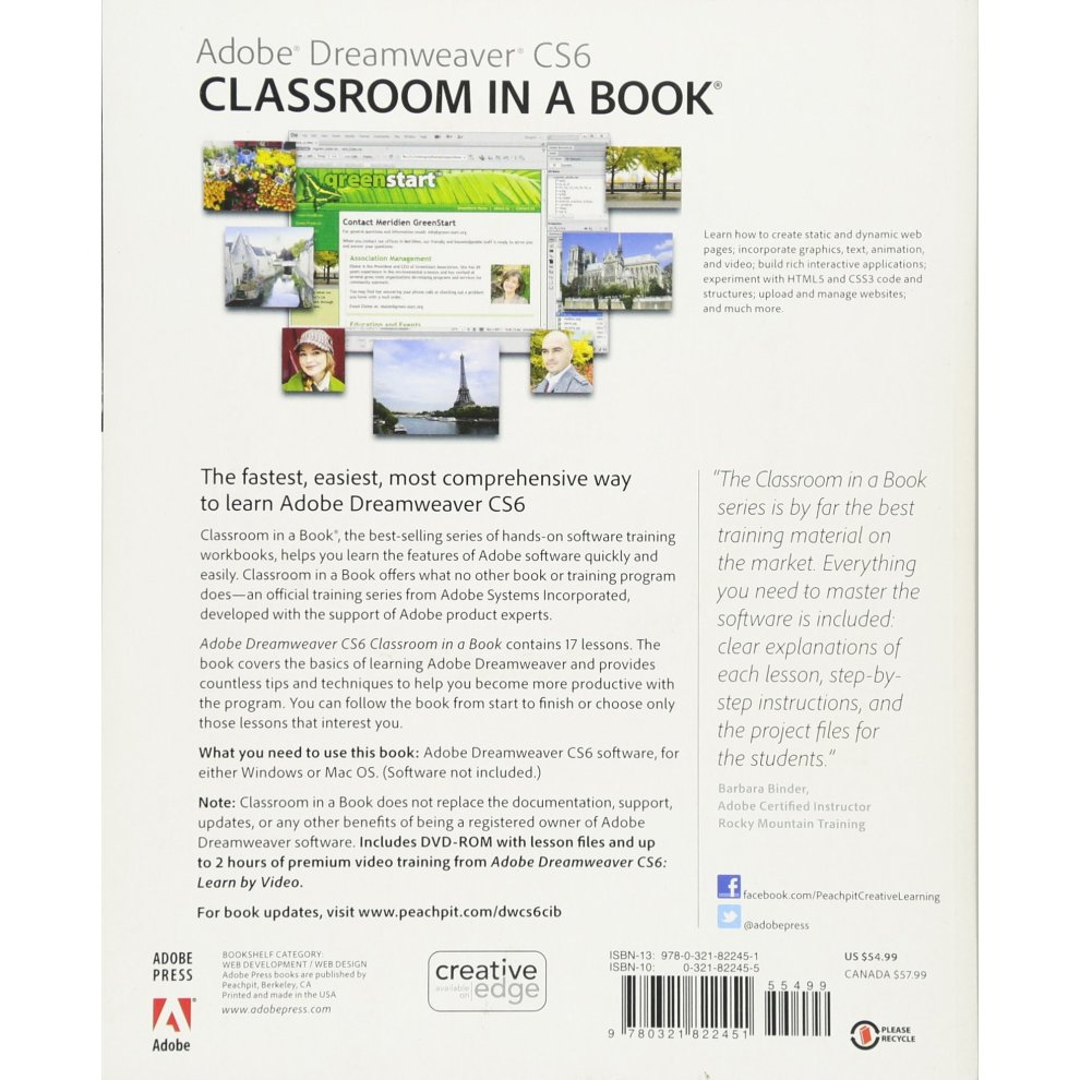 Dreamweaver Cs6 Classroom In A Book