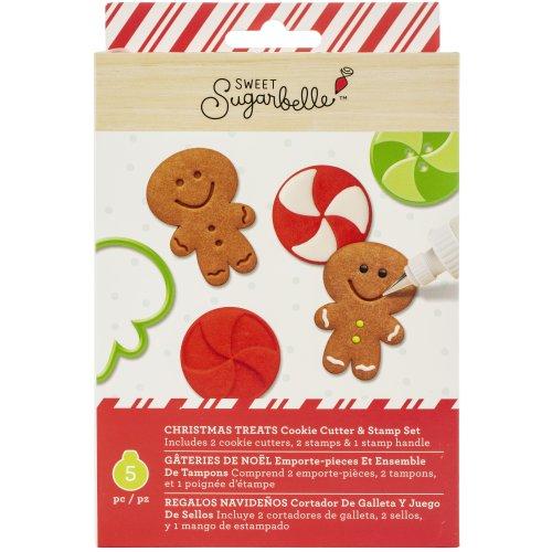 Sweet Sugarbelle Cookie Cutter & Stamp Set 5/Pkg-Christmas Treats
