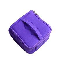 13-Slots Essential Oil Carrying Case Portable Handle Bag (purple)