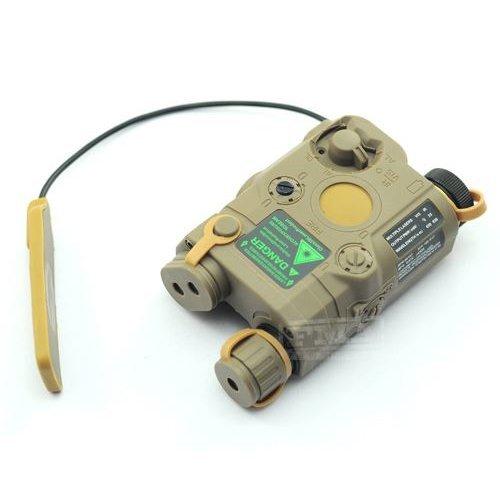 Airsoft Peq-15 Laser Light Torch Ir Pressure Pad Ris 20Mm Rail M4 Mp7 Tan De Uk