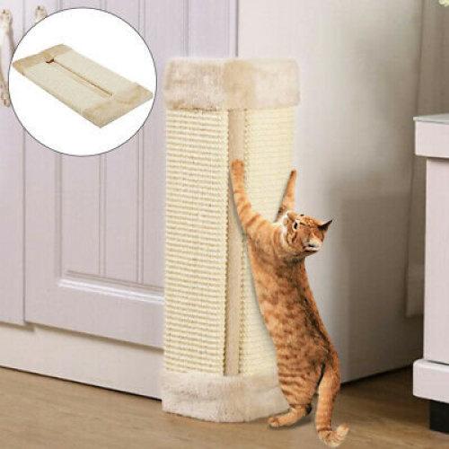 PET KITTEN CORNER SISAL WALL SCRATCHER CATS HANGING CAT SCRATCHING POST BOARD